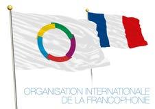 Organisation Internationale de la Francophonie, OIF-Flagge, Frankreich Lizenzfreies Stockbild