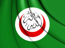 Organisation of Islamic Cooperation Flag. 3D Organisation of Islamic Cooperation Flag. Close Up stock illustration