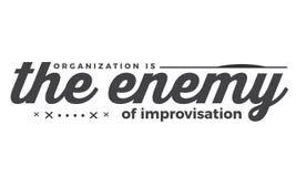 Organisation l'ennemi de l'improvisation illustration de vecteur