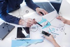 Organisation structure. People`s social network. Business and technology concept. Organisation structure. People`s social network. Business and technology stock photos
