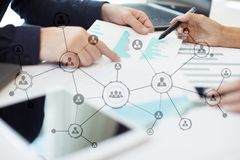 Organisation structure. People`s social network. Business and technology concept. Organisation structure. People`s social network. Business and technology stock photography