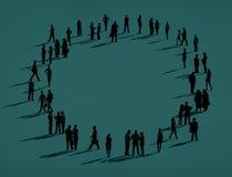 Organisation Team Concept för gemenskapaffärsanslutning stock illustrationer