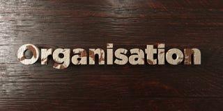 Organisation - titre en bois sale sur l'érable - image courante gratuite de redevance rendue par 3D Images libres de droits