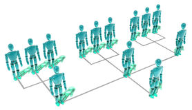 Organisationsübersicht Stockfoto