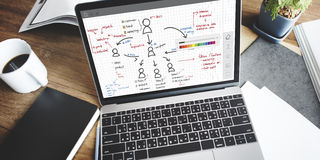 Organisationsübersicht-Management-Planungs-Konzept lizenzfreie stockfotografie