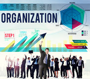 Organisations-Management-Zusammenarbeit Team Structure Concept Lizenzfreie Stockfotografie
