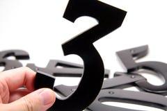 organisationsnummer för 3 hand Arkivfoto