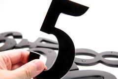 organisationsnummer för 5 hand Arkivbilder