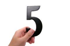 organisationsnummer för 5 hand Arkivfoton