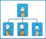 Organisationsplan Vektor Abbildung
