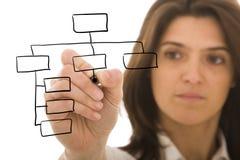 Organisationsplan Stockfoto