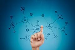 Organisationsstruktur Socialt nätverk för folk` s Affärs- och teknologibegrepp arkivfoto
