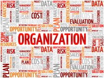 Organisationswortwolke Lizenzfreies Stockfoto