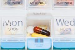 Organisator der verschreibungspflichtigen Medikamente Stockbilder