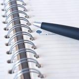 Organisator und Bleistift Stockfotografie