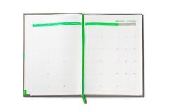 Organisatoranmerkungsbuch Stockfotografie