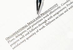 Organisatorisch und prductivity Lizenzfreie Stockfotografie