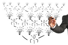 Organisatorische piramidale grafiek van een bedrijf stock afbeelding