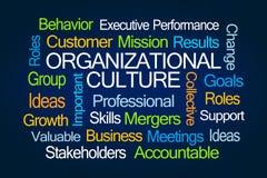 Organisatoriskt kulturordmoln stock illustrationer