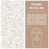 Organisch afval het boekje van de recyclingsinformatie stock illustratie