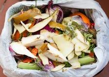 Organisch afval voor compost Stock Foto's