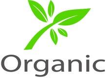 Organisch beeldenembleem en malplaatje Stock Foto