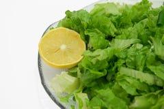 Organisch de citroendieet van de salade Stock Afbeeldingen