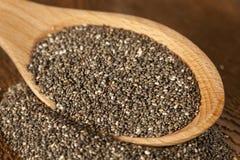 Organisch Droog Chia Seeds Stock Afbeelding