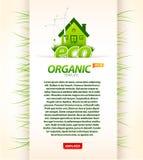 Organisch ecomalplaatje Stock Afbeeldingen