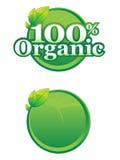 Organisch Embleem en Malplaatje Stock Afbeeldingen