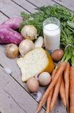 Organisch gezond voedsel royalty-vrije stock foto's