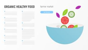 Organisch gezond voedsel stock illustratie