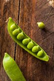 Organisch Groen Sugar Snap Peas Stock Fotografie