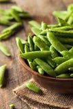 Organisch Groen Sugar Snap Peas Royalty-vrije Stock Afbeeldingen