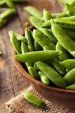 Organisch Groen Sugar Snap Peas Royalty-vrije Stock Foto