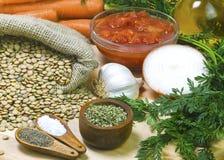 Organisch ingrediënt voor gezonde soepen Royalty-vrije Stock Foto