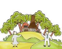 Organisch landbouwbedrijf Stock Afbeeldingen