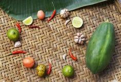 Organisch Plantaardig Thais Voedsel Royalty-vrije Stock Foto's