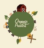 Organisch productetiket stock illustratie
