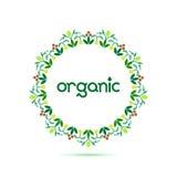 Organisch rozetembleem 001 Royalty-vrije Stock Foto's