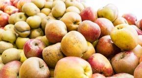 Organische Äpfel in Paris-Markt lizenzfreie stockbilder