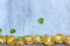 organische achtergrond van sinaasappel Het concept gezonde dranken, exemplaarruimte, close-up stock afbeelding