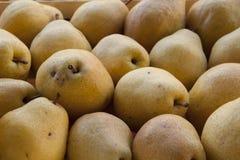 Organische angebaute Birnen lizenzfreie stockfotografie