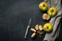 Organische Apple-voedselachtergrond Stock Afbeeldingen
