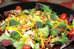 Organische aromatische salade Stock Afbeeldingen
