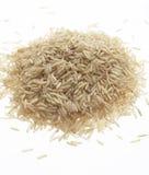 Organische bruine basmati rijst Stock Fotografie