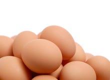 Organische Bruine Eieren Royalty-vrije Stock Afbeelding