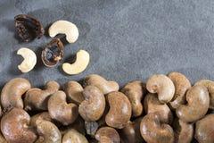 Organische cashewnoten - Anacardium occidentale Hoogste mening stock foto