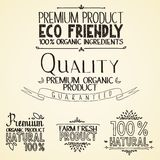 Organische de natuurlijke voedingrubrieken van de premiekwaliteit Stock Afbeelding