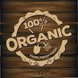 Organische die zegel op hout wordt gesneden Stock Fotografie